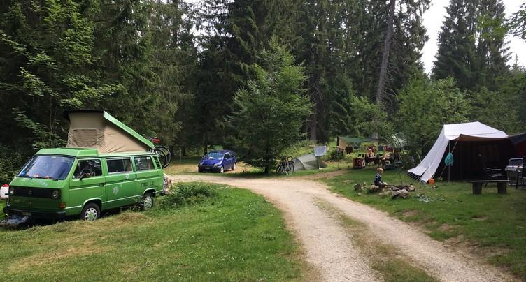 Le camping de Saignelégier a la cote