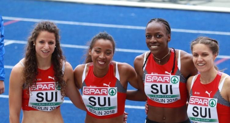 Fanette Humair et Rachel Pellaud éliminées du relais 4x400 à Berlin