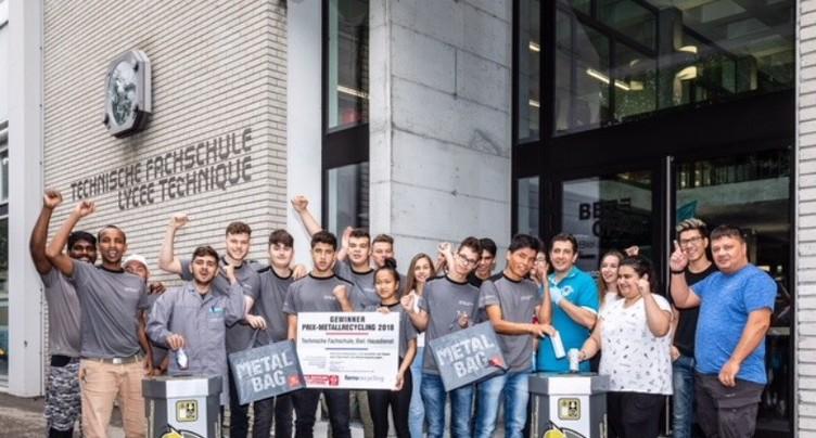 Le Lycée Technique de Bienne champion du recyclage des métaux