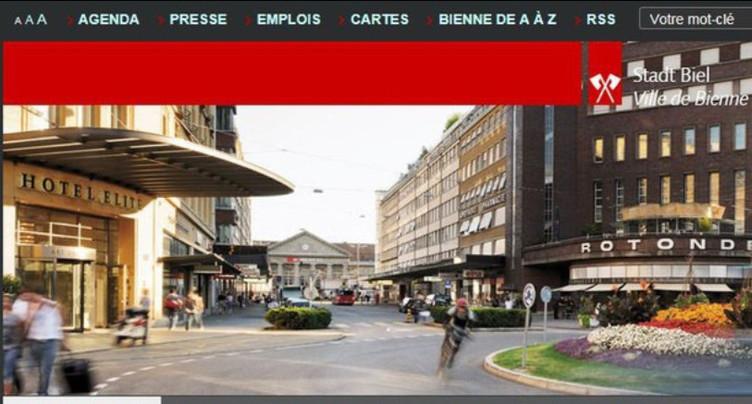 Le nouveau site internet accepté à Bienne