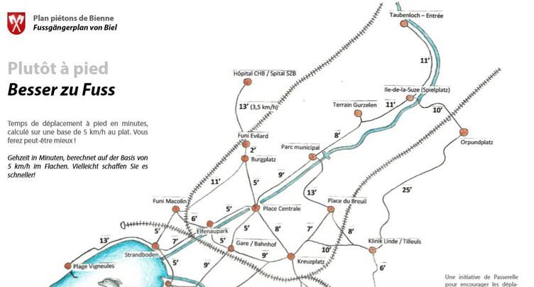Un plan piéton pour promouvoir les déplacements en ville de Bienne
