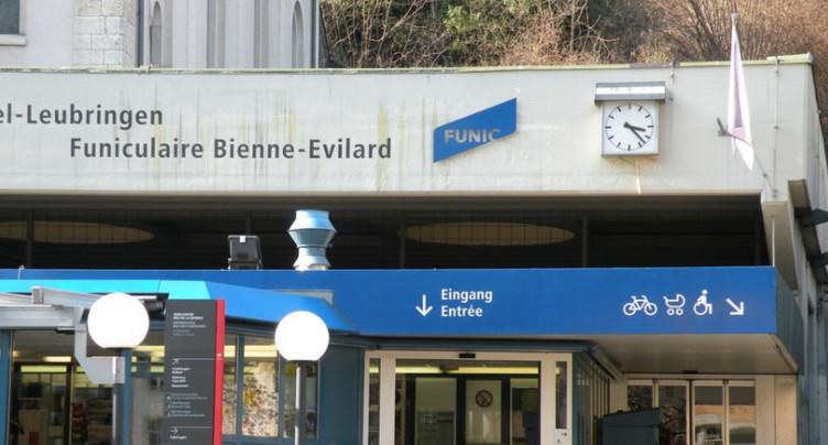 Le funiculaire d'Evilard en révision du 24 au 28 septembre