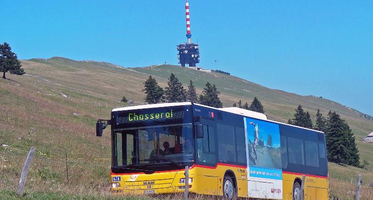 Fréquentation du bus Nods-Chasseral en forte hausse