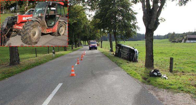 Un conducteur blessé à Lajoux