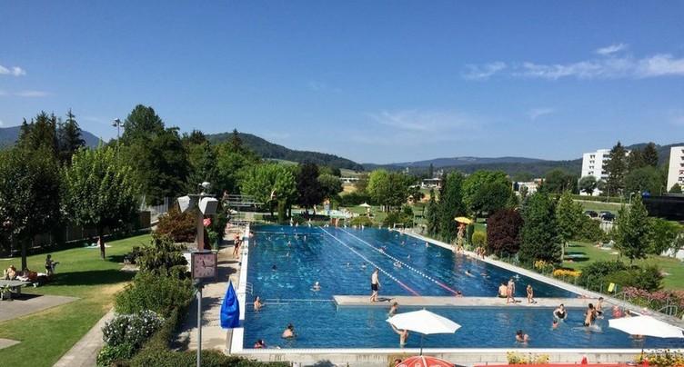 Fréquentation record à la piscine de Delémont