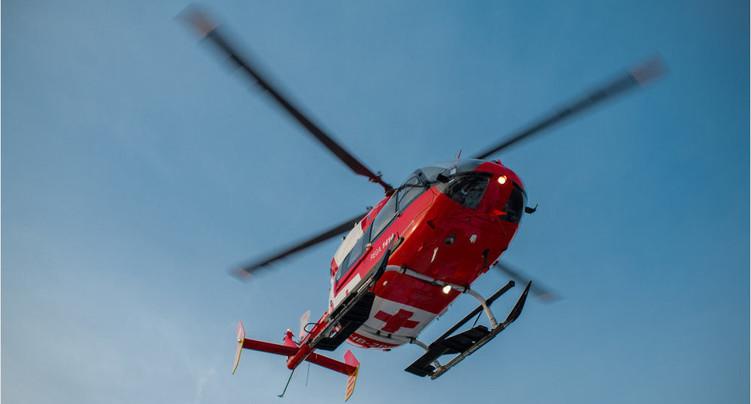 Un homme héliporté après un accident sur l'A16