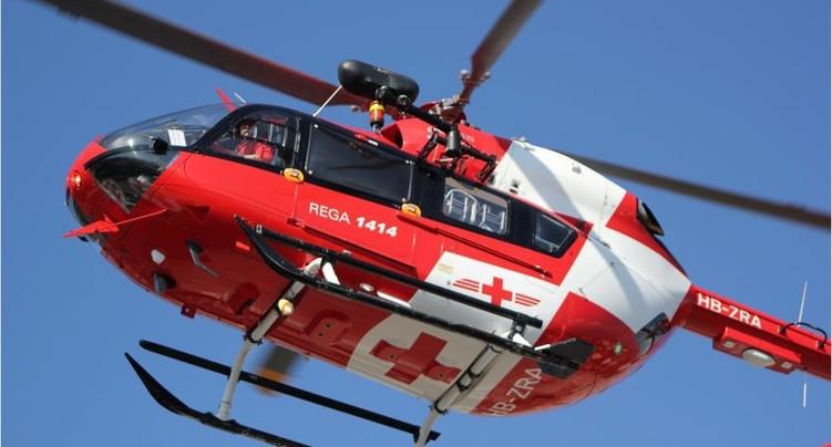Automobiliste héliporté au CHUV