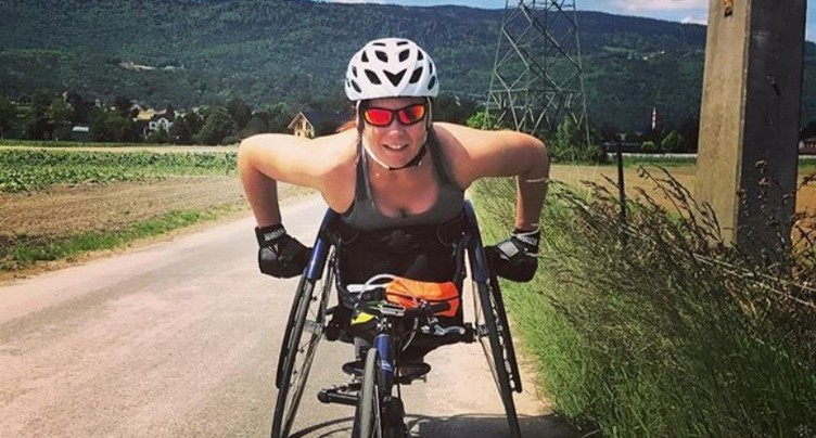 Une Neuchâteloise en fauteuil roulant au marathon de New York