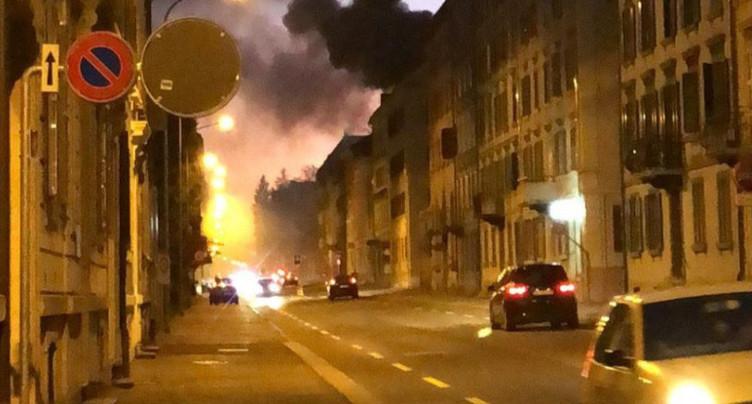 Incendie à La Chaux-de-Fonds