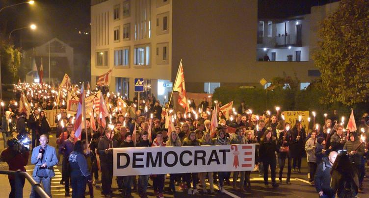 La ville de Moutier n'a pas pris part à la manifestation du 9 novembre en Prévôté