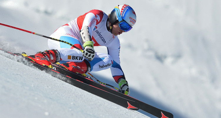 Mauro Caviezel remporte le globe en Super-G