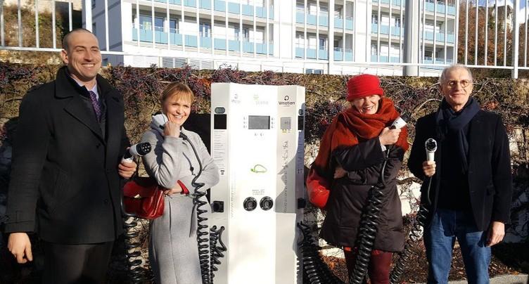 Nouvelles bornes de recharge pour véhicules électriques à Neuchâtel