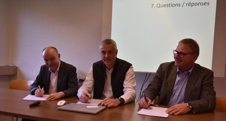 Une convention pour encadrer le projet de parc éolien de Montoz-Pré Richard