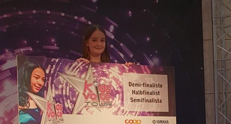 Emelyn remporte l'étape de Neuchâtel du Kids Voice Tour
