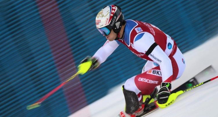 Loïc Meillard champion de Suisse en slalom