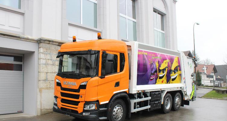 Nouveau camion poubelle à St-Imier