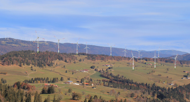 Des éoliennes entre Sonvilier et Val-de-Ruz