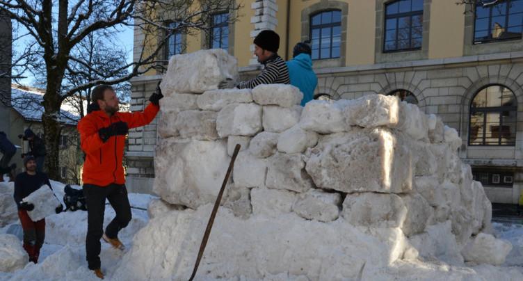 L'art de modeler des tas de neige