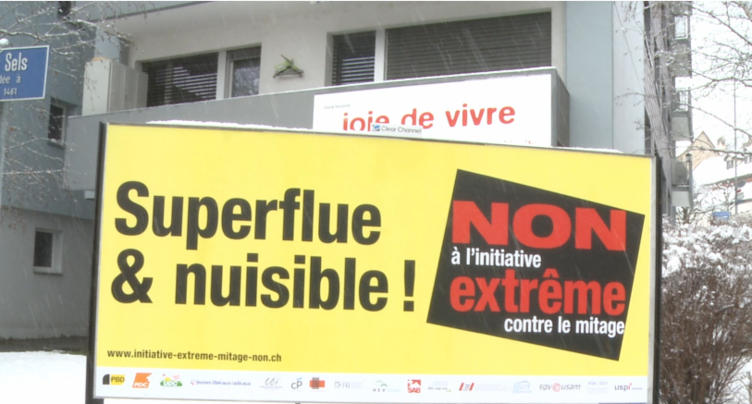 Les opposants au mitage dénoncent une initiative « superflue et nuisible »