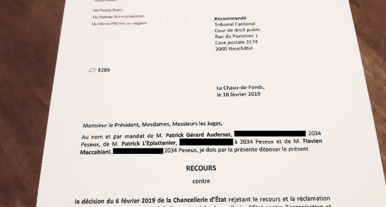 Fusion Neuchâtel-Ouest : recours déposé auprès du Tribunal cantonal