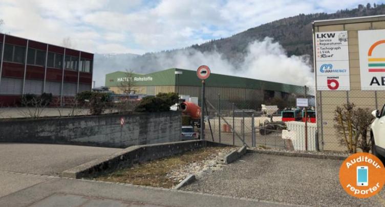 Bienne : les pompiers engagés aux Champs-de-Boujean