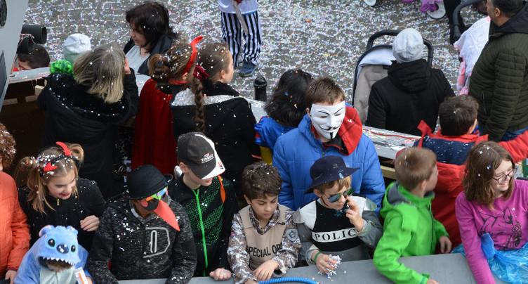 Carnaval des enfants de St-Imier à la trappe