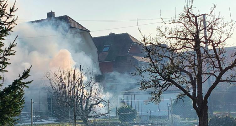 Un incendie à Delémont