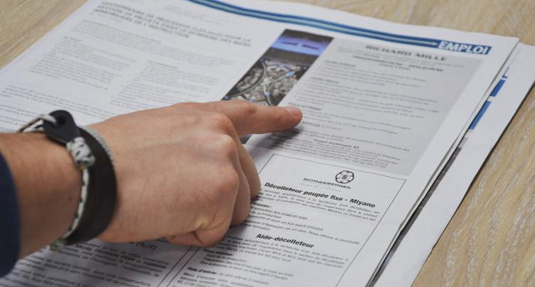 Légère hausse du chômage dans le Jura bernois