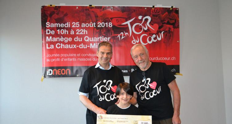 Un chèque neuchâtelois pour la fondation de René Prêtre