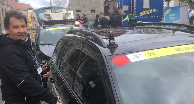 En voiture avec « Monsieur sécurité » sur le Tour de Romandie