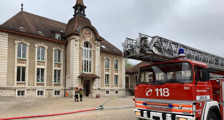 Le collège de Môtiers évacué après une alarme incendie