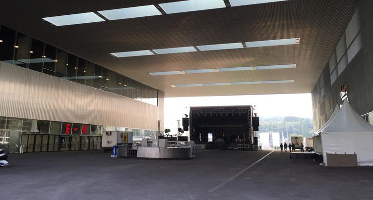 Fermeture de l'esplanade de la Tissot Arena