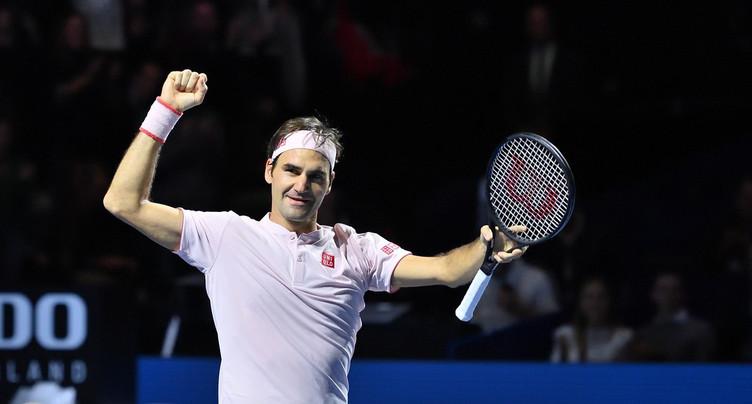 Roger Federer étincelant
