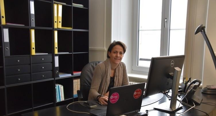 Katia Babey à la trappe à La Chaux-de-Fonds
