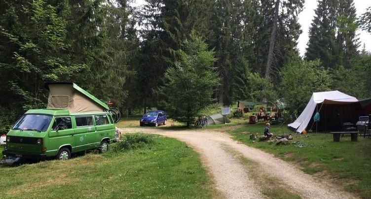 Boom de touristes dans les campings
