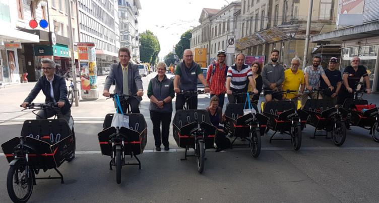 Les vélos-cargos prennent du terrain à Bienne