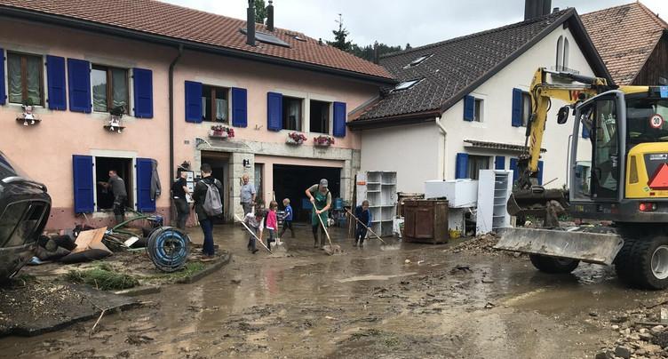 Inondations au Val-de-Ruz: crédit supplémentaire de 1,985 million