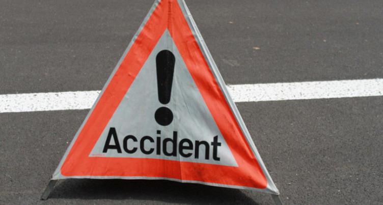 Accident de la circulation sur l'A16 à Court
