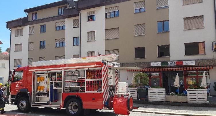 Casserole oubliée sur le feu dans un appartement à Reconvilier