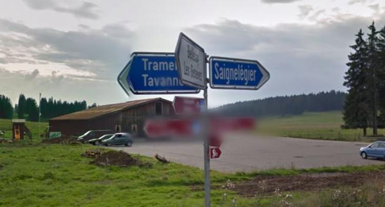 Route fermée entre Saignelégier et Les Reussilles