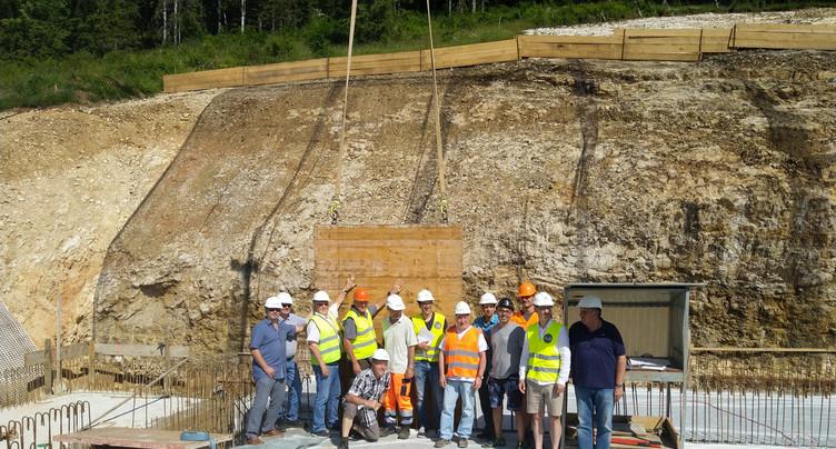 Etape symbolique pour le nouveau réservoir de Cormoret et Courtelary