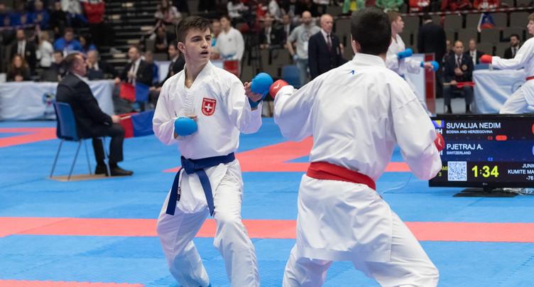 Arben Pjetraj aux championnats du monde de karaté