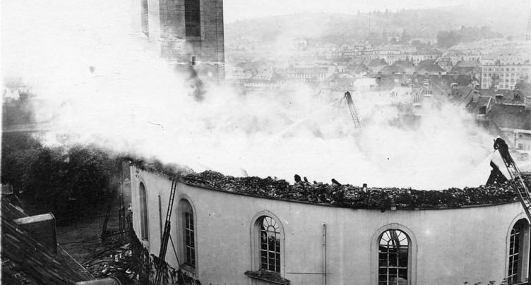 Le Grand Temple en feu, c'était le 16 juillet 1919