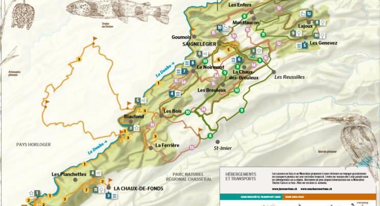 Une carte touristique pour le Parc du Doubs