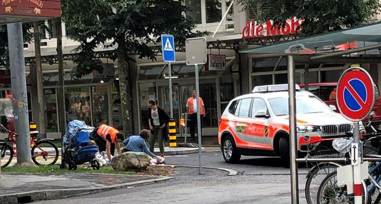 Cycliste blessé à Bienne