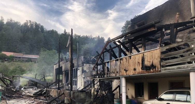 L'incendie de Charmoille n'a presque rien épargné