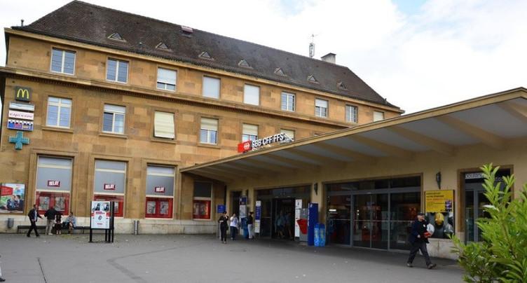 Début des travaux en gare de Neuchâtel