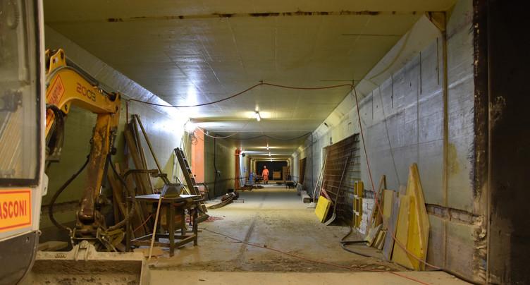 Le nouveau souterrain de la gare de Bienne prend forme