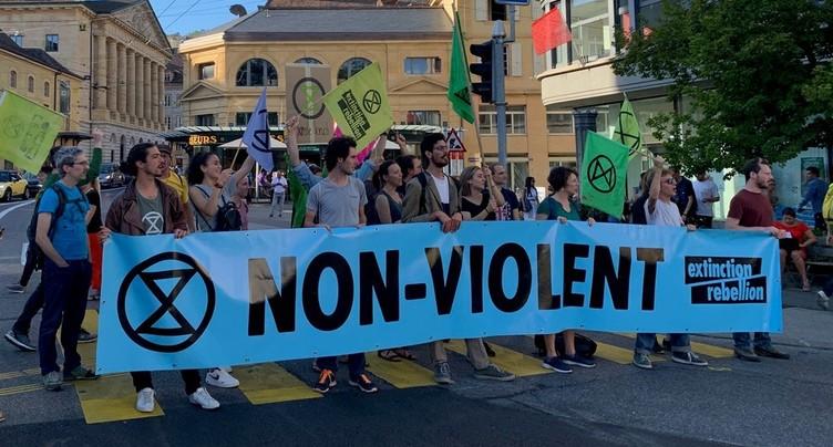 Extinction Rebellion à nouveau à Neuchâtel
