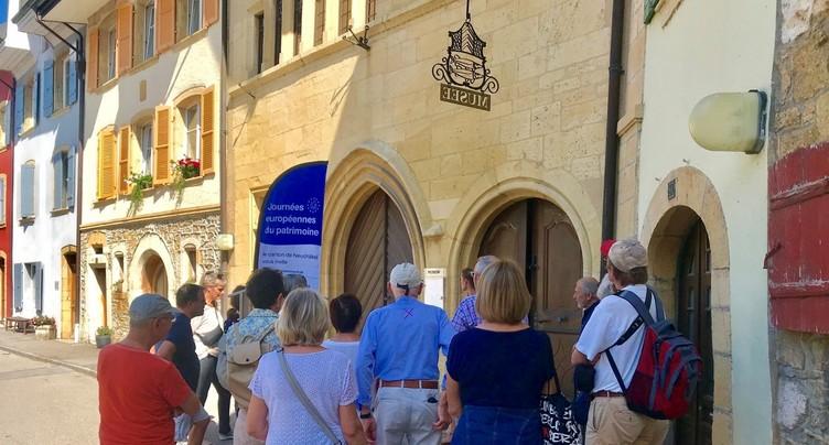 Plus de 2500 visiteurs neuchâtelois aux Journées européennes du patrimoine